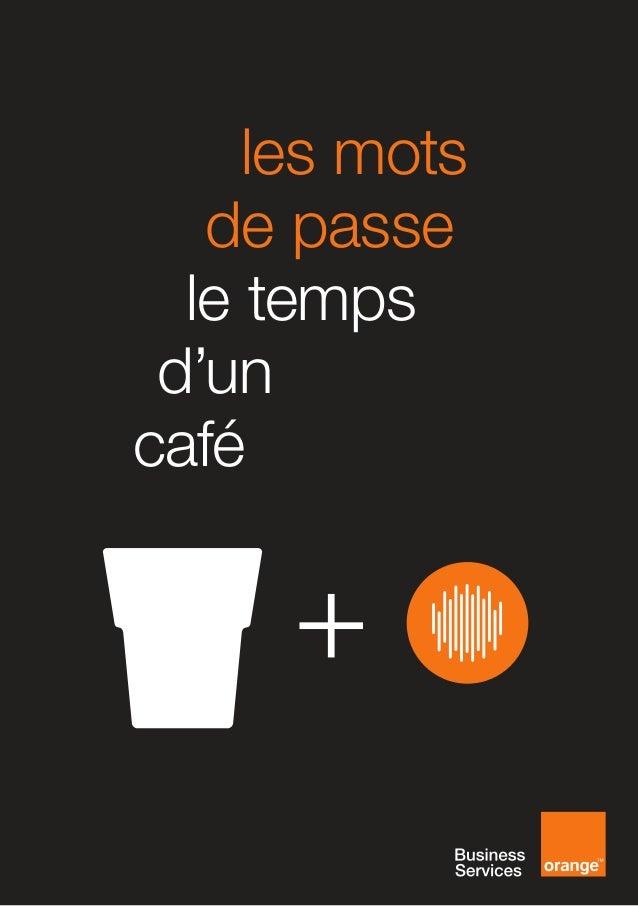 [FR] les mots de passe le temps d'un café preview