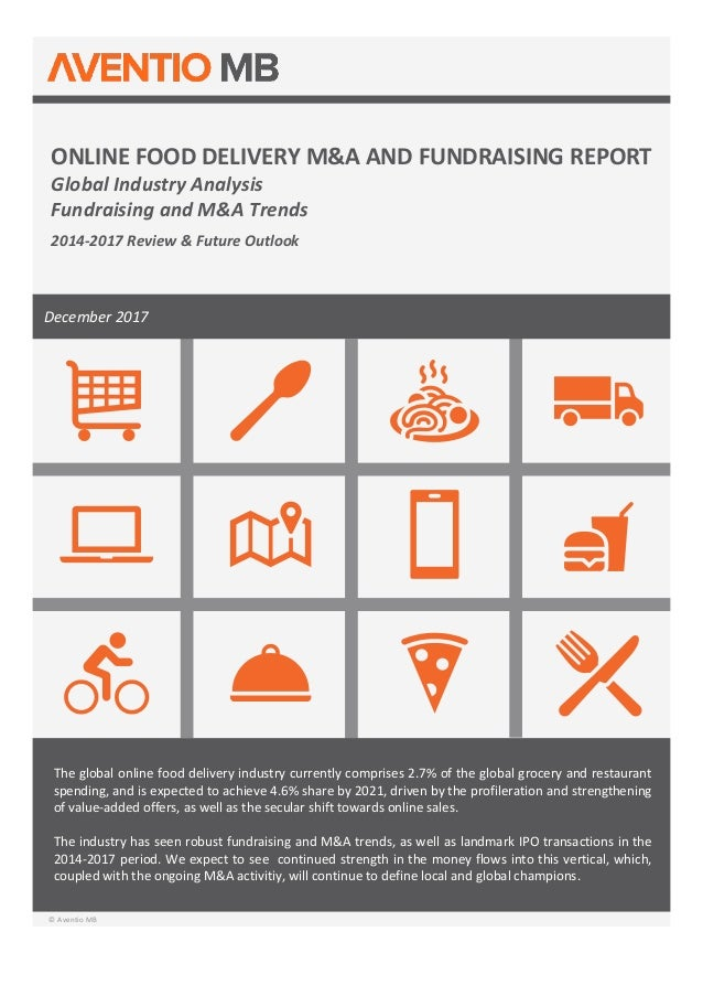 Preview aventio online-food-delivery-ma-and-fundraising-report
