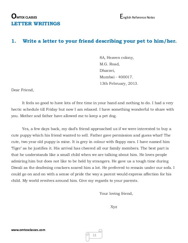 write a letter to your friend advising him