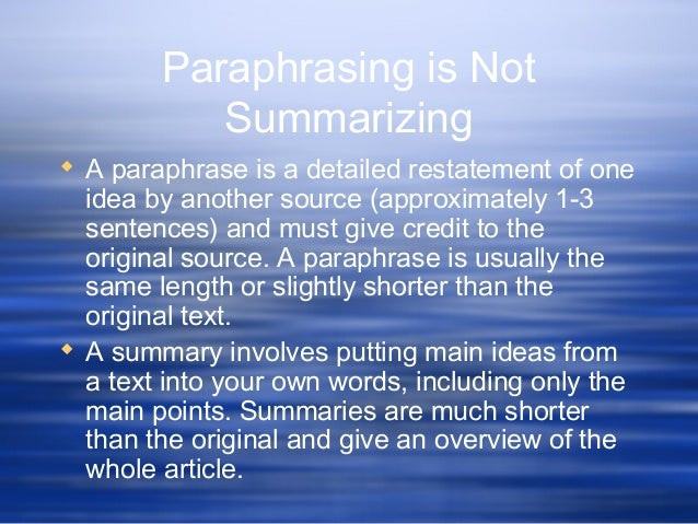 importance of annotating and paraphrasing The process of annotating and paraphrasing can be a daunting task, but both of these tasks are very important to be good writer annotating is a fundamental way to make the most out reading an article or document.
