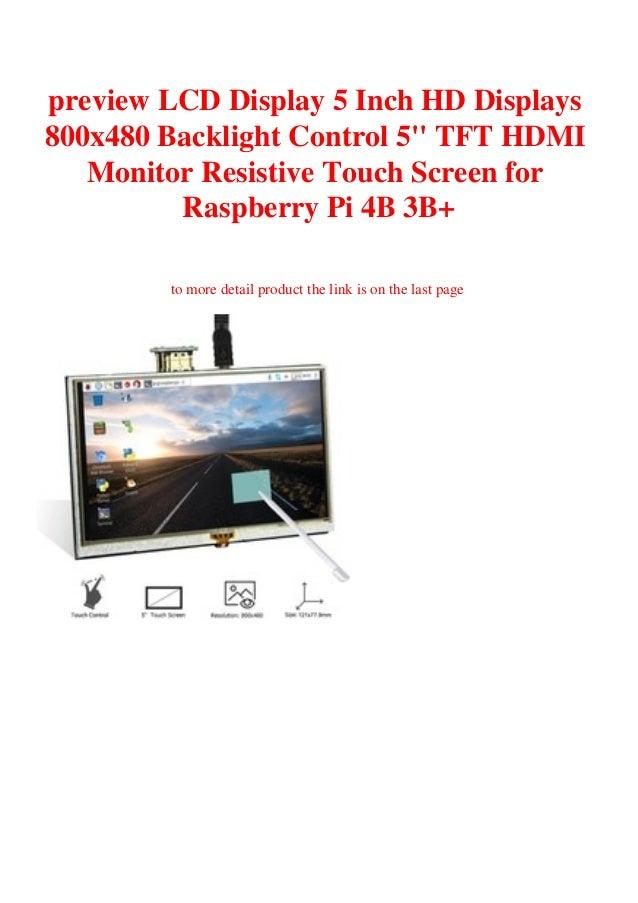 Touch screen LCD Display HDMI Monitor 5inch 800x480 Raspberry Pi 2 3 B