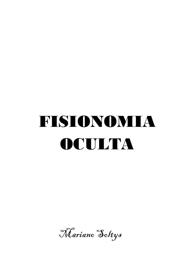FISIONOMIA OCULTA Mariano Soltys