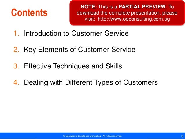 Customer Service Essentials by Operational Excellence Consulting Slide 3