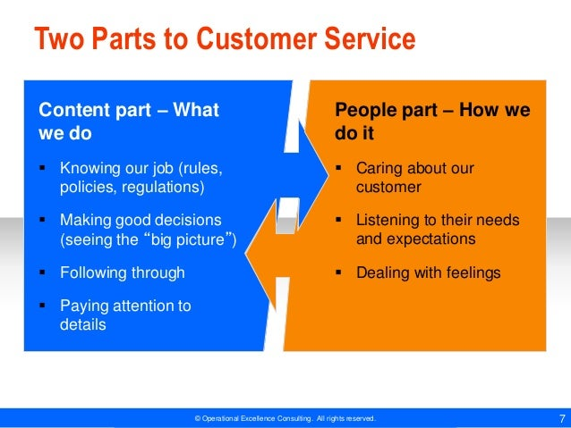 Customer Service Essentials by Operational Excellence Consulting