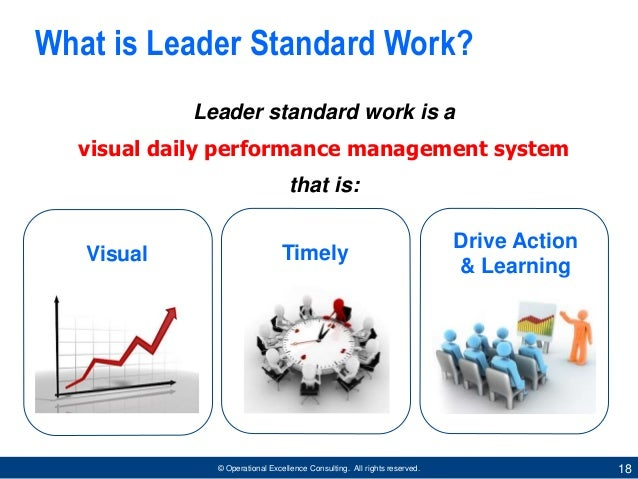 management system for lean leaders by operational