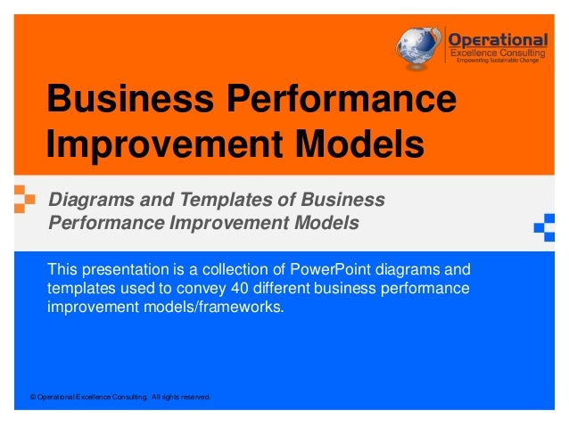 Business performance improvement models by operational excellence con pronofoot35fo Image collections