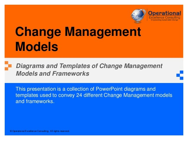 Change management models by operational excellence consulting operational excellence consulting all rights reserved this presentation is a collection of powerpoint toneelgroepblik Image collections