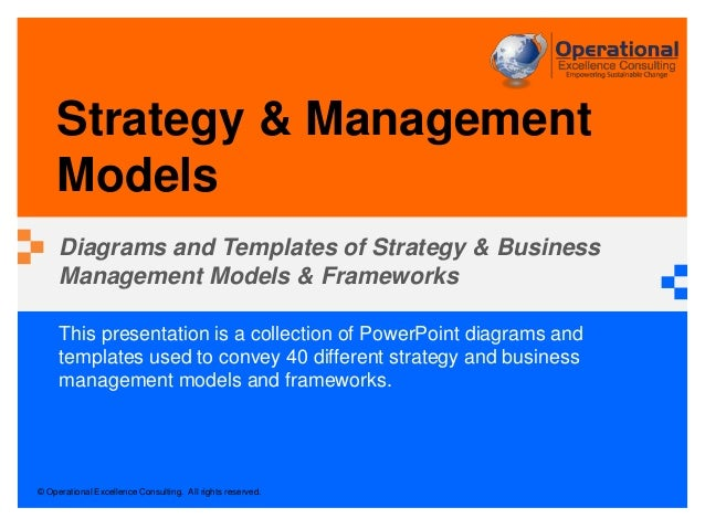 Strategy management models by operational excellence consulting operational excellence consulting all rights reserved this presentation is a collection of powerpoint malvernweather Images