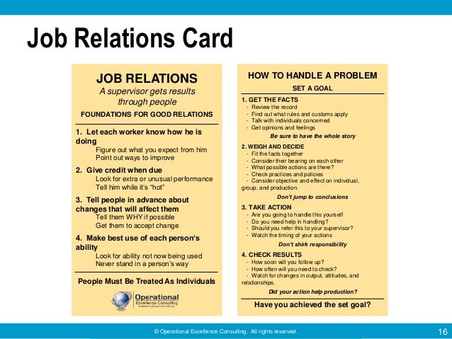 Training Within Industry Twi Job Relations Program By