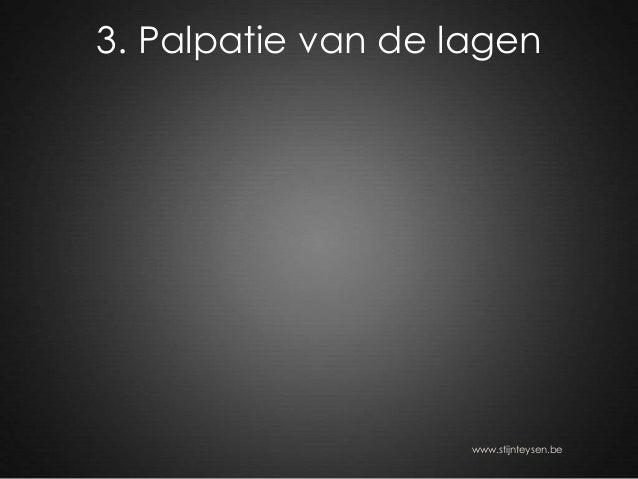 3. Palpatie van de lagen www.stijnteysen.be
