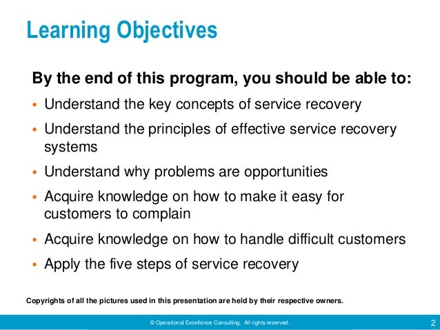 Service Recovery by Operational Excellence Consulting Slide 2