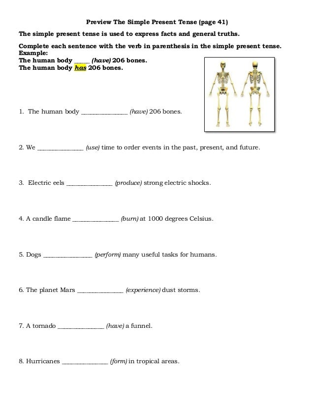 Worksheets One Thousand Sentence Of Simple Present Tense preview the uses of simple present tense 16 tense