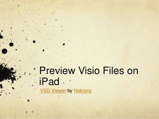 Preview Visio Files oniPadVSD Viewer by Nektony