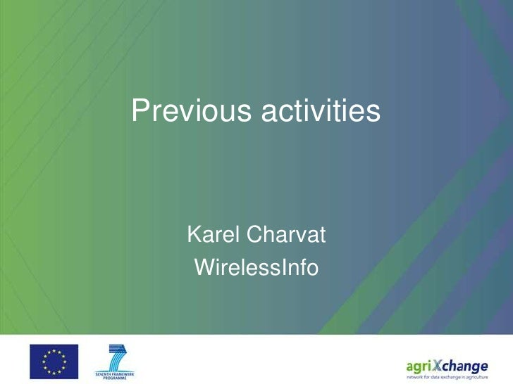 Previous activities    Karel Charvat    WirelessInfo