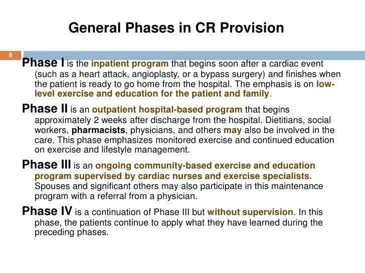effectiveness of phase ii cardiac rehabilitation