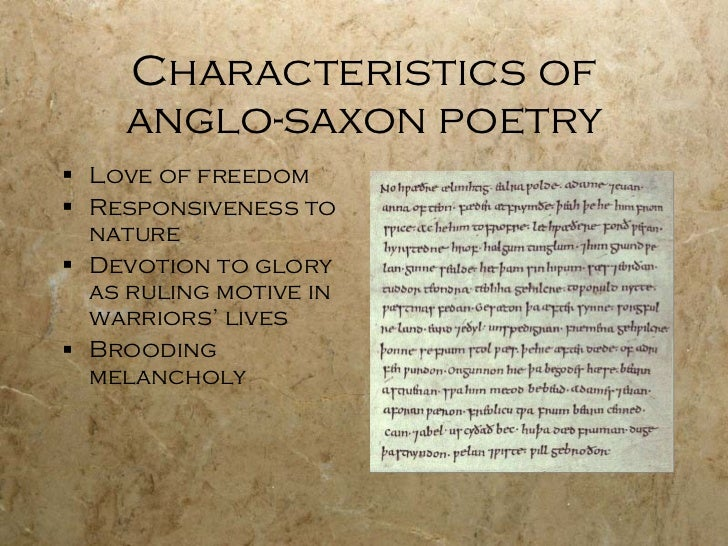 anglo saxon heroic poetry essay 1 the hero is introduced in the thick of convulsion at a point good into the narrative antecedent action will be recounted in flashbacks 2.