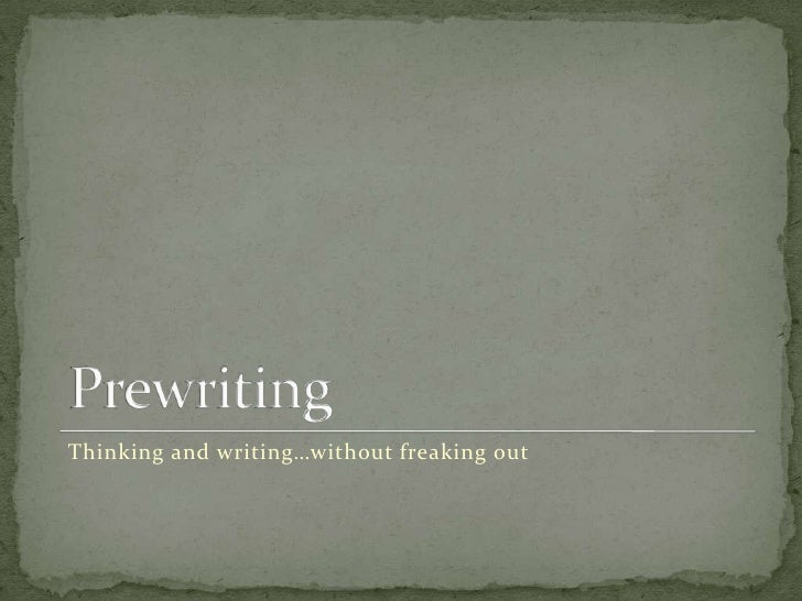 Thinking and writing…without freaking out