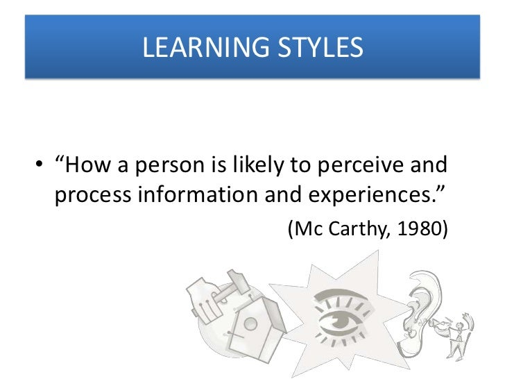 an essay about learning styles