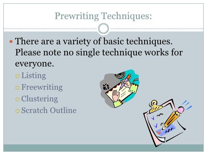 prewriting techniques