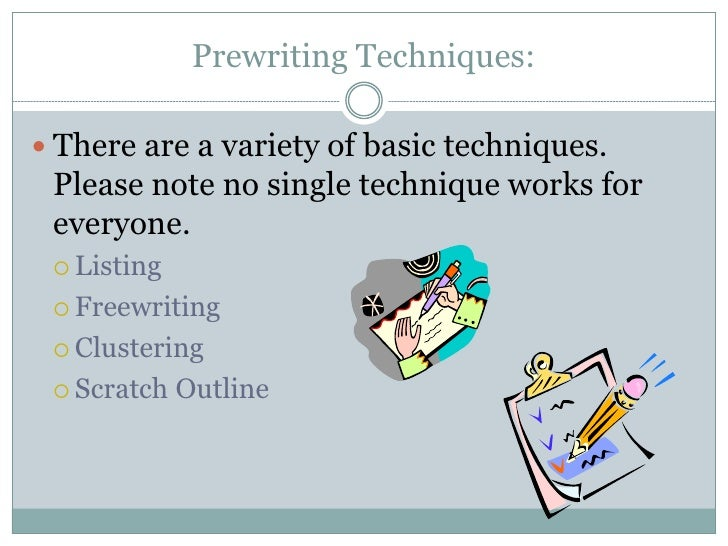 Prewriting an Essay - Writing Tips