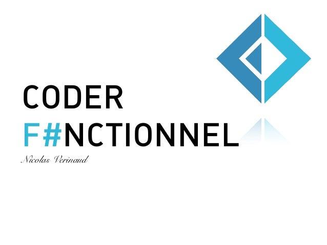CODER F#NCTIONNELNicolas Verinaud