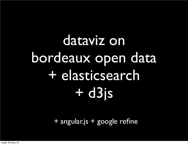 dataviz on                   bordeaux open data                     + elasticsearch                         + d3js        ...