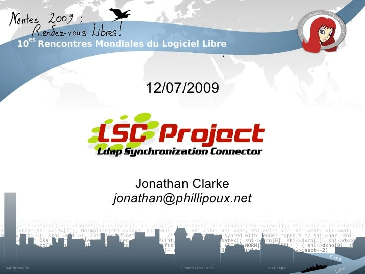 12/07/2009                                                Jonathan Clarke                                        jonathan@...