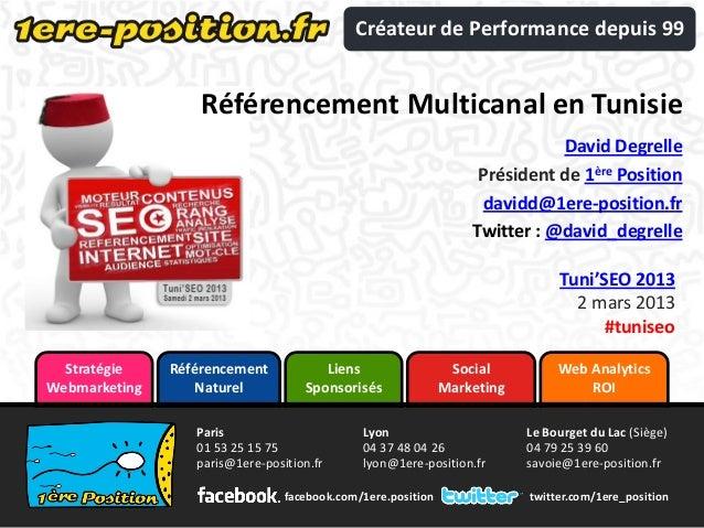 Créateur de Performance depuis 99                   Référencement Multicanal en Tunisie                                   ...