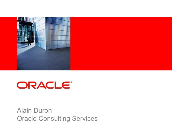 Alain Duron Oracle Consulting Services