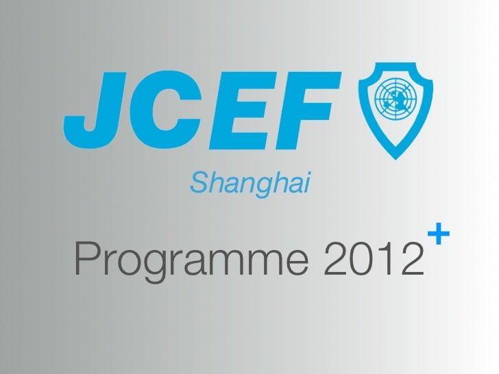 Shanghai               +Programme 2012