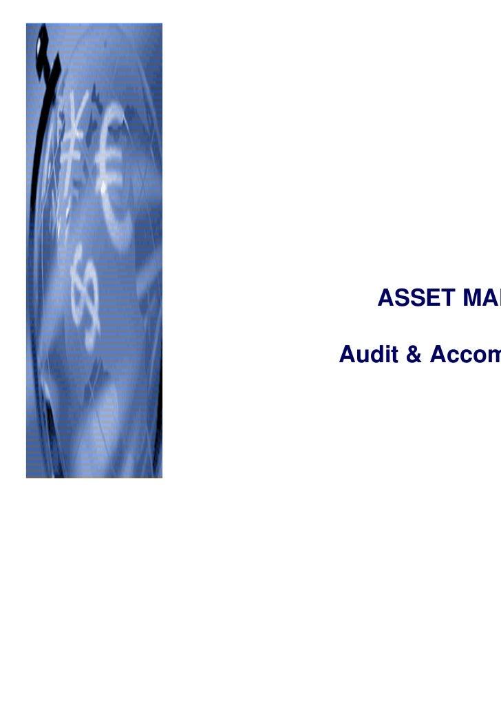CBM  ASSET MANAGEMENTAudit & Accompagnement