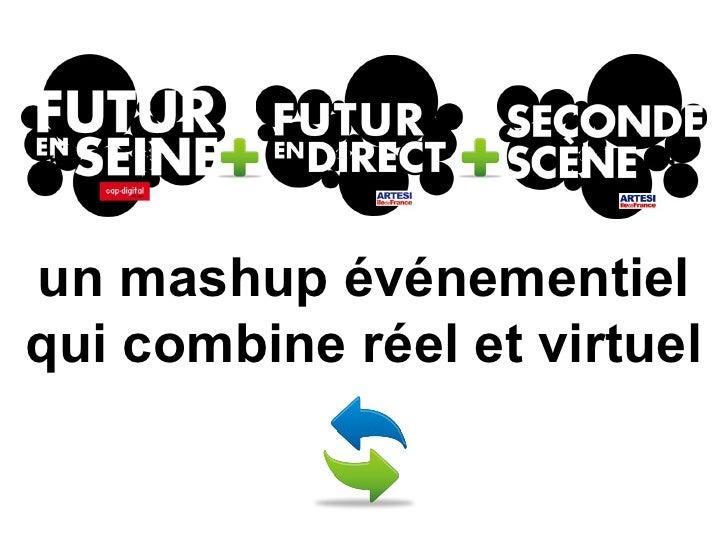 un mashup événementiel qui combine réel et virtuel