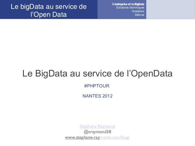 L'entreprise et le BigDataLe bigData au service de                 Solutions techniques                                   ...