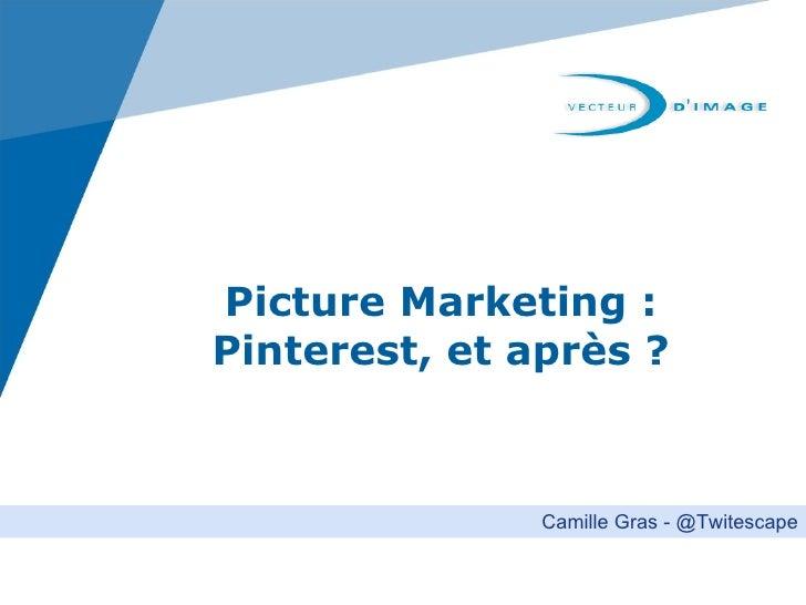 Picture Marketing :Pinterest, et après ?               Camille Gras - @Twitescape