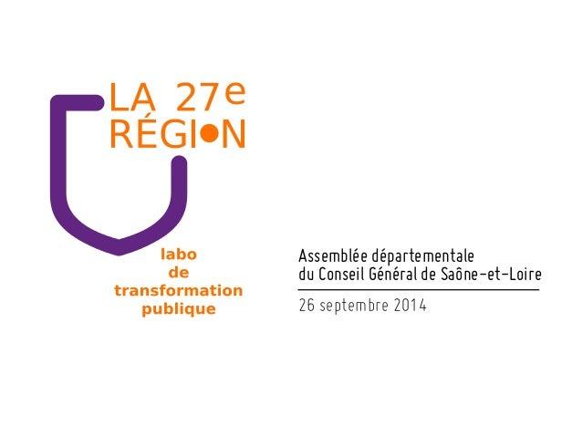 Assemblée départementale du Conseil Général de Saône-et-Loire!! 26 septembre 2014