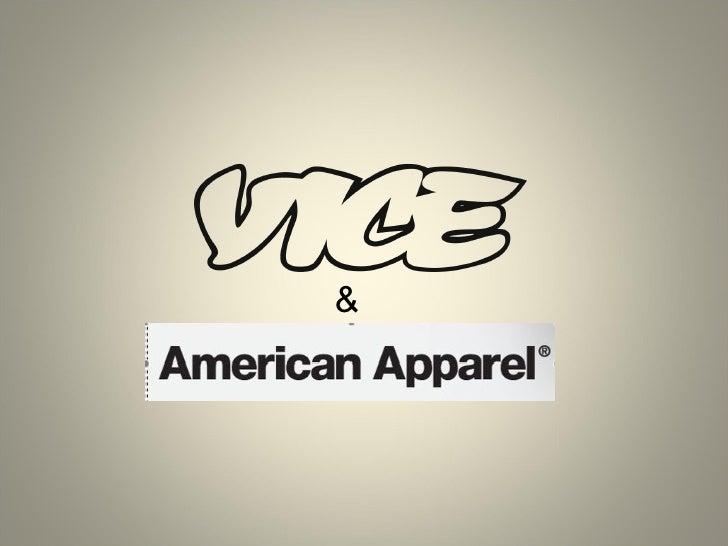 Laurent LAFON, VICE & American Apparel (PARIS 2.0, Sept 2009) Slide 1