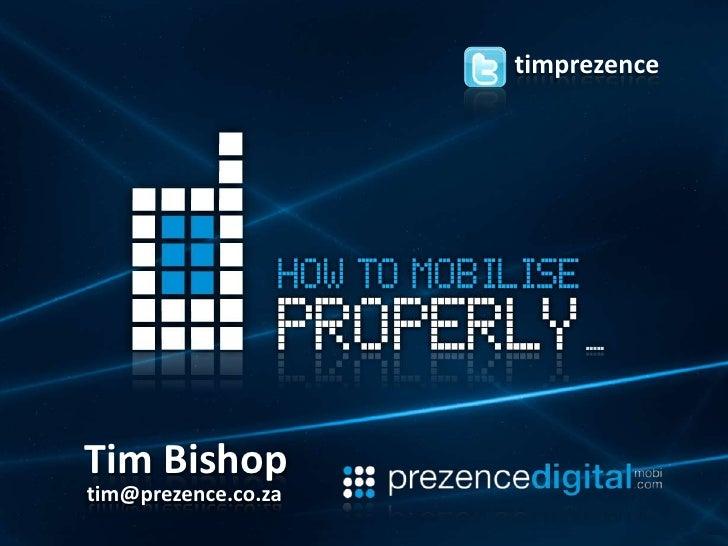 timprezence Tim Bishop tim@prezence.co.za
