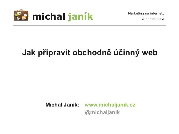 michal janík                                  Marketing na internetu                                          & poradenstv...