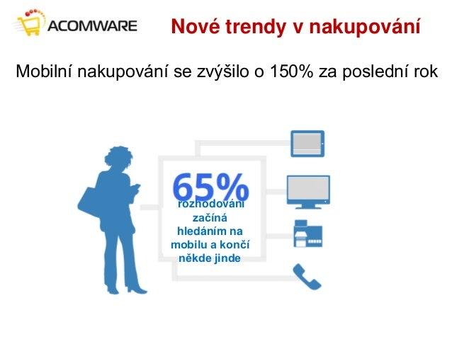 Nové trendy v nakupování Mobilní nakupování se zvýšilo o 150% za poslední rok rozhodování začíná hledáním na mobilu a konč...