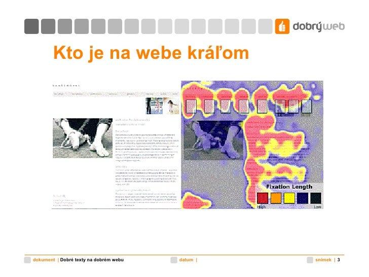Kto je na webe kráľom Dobré texty na dobrém webu