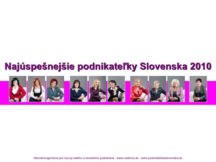 Najúspešnejšie podnikateľky Slovenska 2010