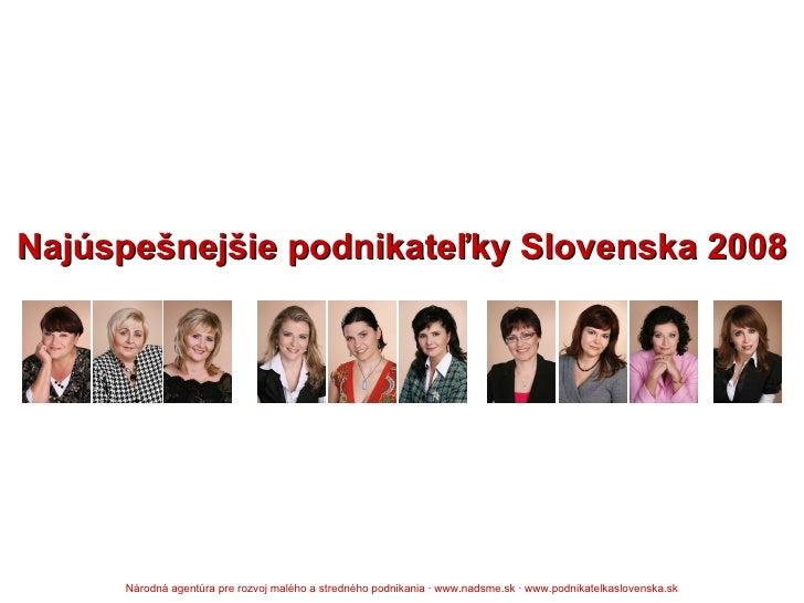 Najúspešnejšie podnikateľky Slovenska 2008