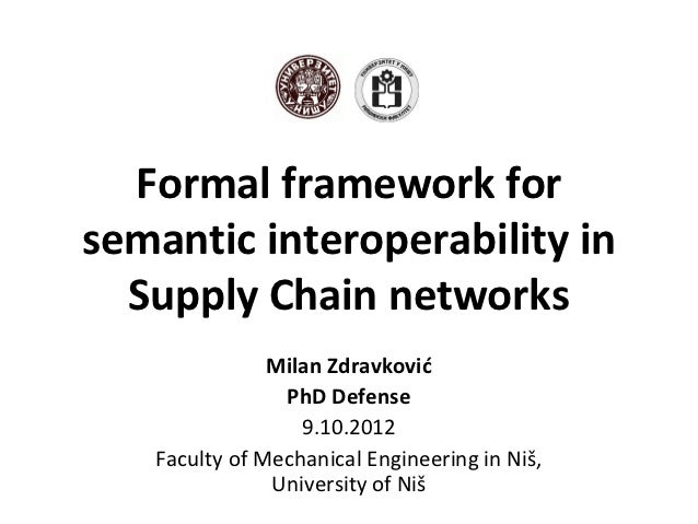 Formal framework forsemantic interoperability in  Supply Chain networks               Milan Zdravković                PhD ...
