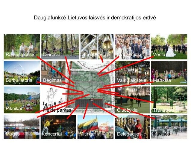Daugiafunkcė Lietuvos laisvės ir demokratijos erdvė Ramus poilsis Dviračiai Kariljonas Klausymasis Vestuvės Burbuliatoriai...