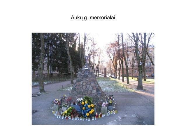 Aukų g. memorialai