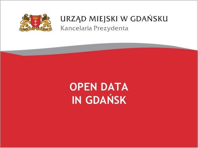 OPEN DATA IN GDAŃSK