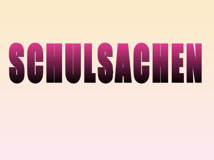 Prezentacja schulsachen1