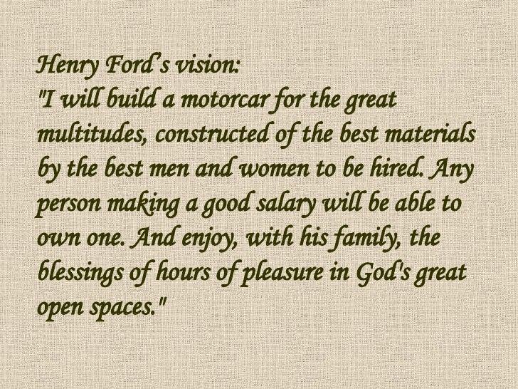 Visions of grandeur henry ford | College paper Sample