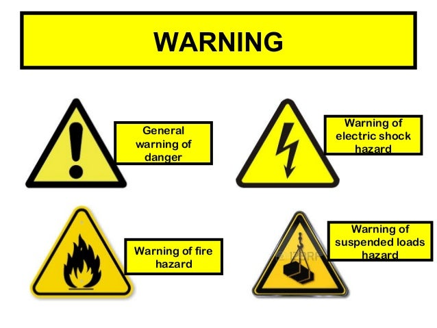 Safety at workplace - signs.