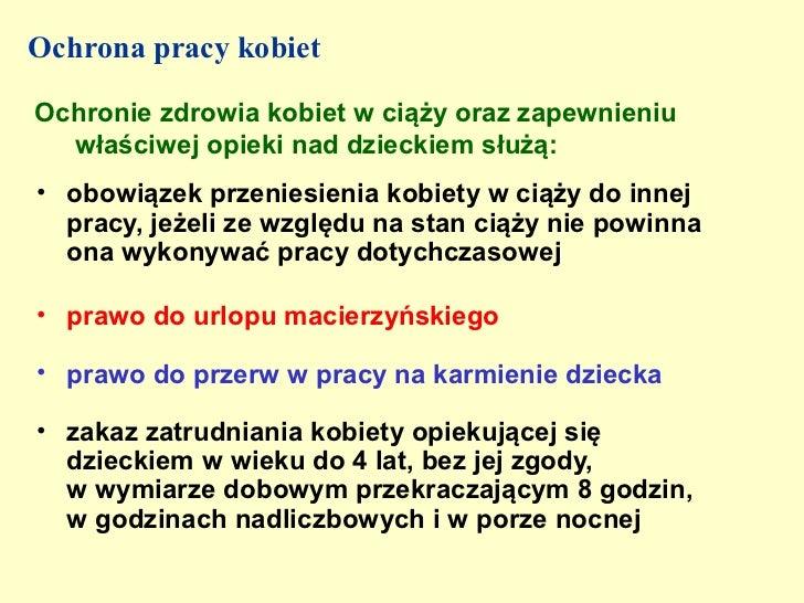 ochrona pracy kobiet Chorzów